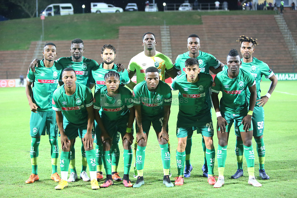 02102018 (Durban) Amazulu team picture before the game when AmaZulu FC takes head on their KwaZulu-Natal rivals Maritzburg United in an Absa Premiership match at the King Zwelithini Stadium in Durban on Tuesday night. Usuthu extended their winless run to three league games when they lost 2-0 to Kaizer Chiefs away in their previous match over a week ago and after losing 6 points.<br /> Picture: Motshwari Mofokeng/African News Agency (ANA)