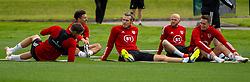 CARDIFF, WALES - Saturday, September 5, 2020: Wales' captain Gareth Bale chats with team-mates during a training session at the Vale Resort ahead of the UEFA Nations League Group Stage League B Group 4 match between Wales and Bulgaria. (Pic by David Rawcliffe/Propaganda)