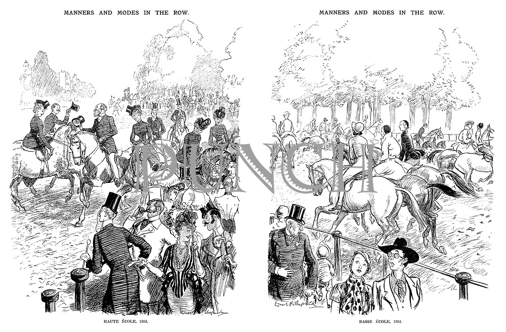 Manners and Modes in the Row. Haute Ecole, 1882.