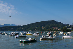 Lake Annecy at La Course by Le Tour de France 2018, a 112.5 km road race from Annecy to Le Grand Bornand, France on July 17, 2018. Photo by Sean Robinson/velofocus.com