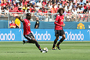 Manchester United Midfielder Paul Pogba shoots at goal during the AON Tour 2017 match between Real Madrid and Manchester United at the Levi's Stadium, Santa Clara, USA on 23 July 2017.