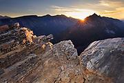 Sunset in Montana's Bitterroot Mountains.