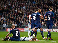 Football - 2017 / 2018 UEFA Champions League - Group B: Tottenham Hotspur vs. PSV Eindhoven<br /> <br /> PSV inquest in defence after Lucas Moura (Tottenham FC)  was allowed to run through at Wembley Stadium.<br /> <br /> COLORSPORT/DANIEL BEARHAM