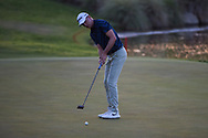 Martin Laird (SCO) watches his birdie putt fall on the second playoff hole to win the 2020 Shriner's Hospital for Children Open, TPC Summerlin, Las Vegas, NV. 10/11/2020.<br /> Picture: Golffile | Ken Murray<br /> <br /> <br /> All photo usage must carry mandatory copyright credit (© Golffile | Ken Murray)