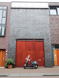 Modern architecture of new houses on Scheepstimmermanstraat in Borneo Island new property development in Amsterdam Netherlands