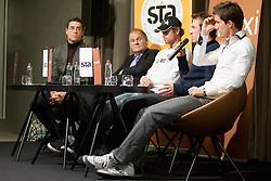 Aljaz Bedene med STA Maxi sportni klub, v katerem so govorilo o preboju teniskih igralvec v TOP 100. Dne 20, Novembra 2012 v Maksimarketu, Ljubljana, Slovenija. (foto Urban Urbanc / sportida)