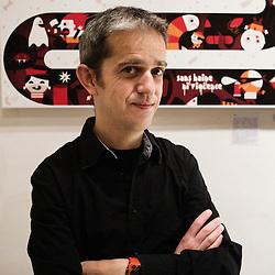 Tino, illustrator. Paris, France. 14 November 2009. Photo: Antoine Doyen