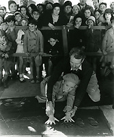 1931 Jackie Cooper's hand/footprint ceremony at the Chinese Theater