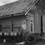 Japoonvale<br /> Church-Garage<br /> August 1999<br /> Destroyed by Cyclone Larry; 2006