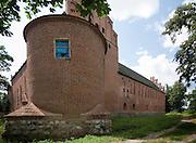 Barciany. 2009-08-09. Krzyżacki zamek w Barcianach w wojewodztwie warminsko-mazurskim w powicie kętrzyńskim.