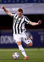 BOLOGNA, ITALY - MAY 23: Dejan Kulusevski of Juventus FC in action ,during the Serie A match between Bologna FC and Juventus FC at Stadio Renato Dall'Ara on May 23, 2021 in Bologna, Italy.(Photo by MB Media/Getty Images)