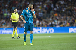 August 13, 2017 - Barcelona, Spain - Karim Benzema during the match between FC Barcelona - Real Madrid, for the first leg of the Spanish Supercup, held at Camp Nou Stadium on 13th August 2017 in Barcelona, Spain. (Credit: Urbanandsport / NurPhoto) (Credit Image: © Urbanandsport/NurPhoto via ZUMA Press)