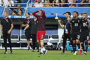 Portugal Forward Cristiano Ronaldo after the final whistle during the Euro 2016 final between Portugal and France at Stade de France, Saint-Denis, Paris, France on 10 July 2016. Photo by Phil Duncan.