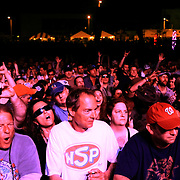 Fans watch Widespread Panic perform during the North Carolina Azalea Festival Friday April 11, 2014 in Wilmington, N.C. (Jason A. Frizzelle)