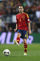 FOOTBALL - FIFA WORLD CUP 2014 - QUALIFYING - SPAIN v FRANCE - 16/10/2012 - PHOTO MANUEL BLONDEAU / AOP PRESS / DPPI - ANDRES INIESTA