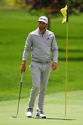 May 15, 2019 - Farmingdale, NY, U.S. - FARMINGDALE, NY - MAY 15:  Dustin Johnson of the United States of America practices on the first green during the PGA Championship on May 15, 2019 at Bethpage State Park the Black Course in Farmingdale, NY.  (Photo by Rich Graessle/Icon Sportswire) (Credit Image: © Rich Graessle/Icon SMI via ZUMA Press)