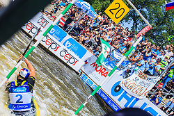 Kauzer Peter (SLO) and his fans during in Semi-Finals during Day 2 of 2018 ECA Canoe Slalom European Championships, on June 2nd, 2018 in Troja , Prague, Czech Republic. Photo by Grega Valancic / Sportida