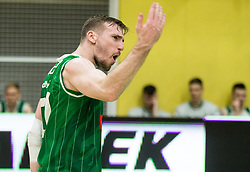 Mitchell James Robert McCarron of Petrol Olimpija reacts during basketball match between KK Krka Novo mesto and  KK Petrol Olimpija in 4th Final game of Liga Nova KBM za prvaka 2017/18, on May 27, 2018 in Sports hall Leona Stuklja, Novo mesto, Slovenia. Photo by Vid Ponikvar / Sportida
