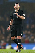 Referee Kevin Friend in action. The Emirates FA cup, 3rd round match, Chelsea v Peterborough Utd at Stamford Bridge in London on Sunday 8th January 2017.<br /> pic by John Patrick Fletcher, Andrew Orchard sports photography.