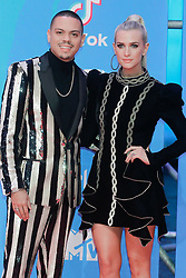 Evan Rose, Aslheey Simpson attend the MTV Europe Music Awards held at the Bilbao Exhibition Centre, Spain on November 4, 2018. Photo by Archie Andrews/ABACAPRESS.COM