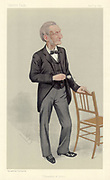 John Hall Gladstone (1827-1902) English chemist. President of the Chemical Society, 1877-1879. He was interested in technical education, and was a member of the London School Board, 1873-1894.   Cartoon by 'Spy', pseudonym of Leslie Ward  (1851-1922)  British painter and caricaturist, from 'Vanity Fair'. (London, 14 November 1891).  Chromolithograph.