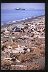 Dungeness Spit and the Strait of Juan de Fuca, Dungeness National Wildlife Refuge, Olympic Peninsula, Washington, US