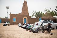 26012018. Niger. Agadez. Grande prière du ve,dredi à la mosquée d'Agadez.
