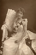 'Maude Millet (1867-1920) English actress in the role of Minnie in Pinero's play ''Sweet Lavender'' at Terry's Theatre, London, 1888.'