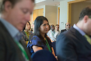 """Participants listen to a presentation during a knowledge exchange session on the topic """"Enablers of deforestation-free supply chains"""", at the General Assembly of the Tropical Forest Alliance 2020 in Jakarta, Indonesia, on March 11, 2016. <br /> (Photo: Rodrigo Ordonez)"""