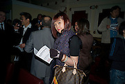 JANE LI, David Tang and Nick Broomfield host  a reception and screening of Ghosts. On the Fifth anniversary of the Morecambe Bay Tragedy to  benefit the Morecambe Bay Children's Fund. The Electric Cinema. Portobello Rd. London W11. 5 February 2009 *** Local Caption *** -DO NOT ARCHIVE -Copyright Photograph by Dafydd Jones. 248 Clapham Rd. London SW9 0PZ. Tel 0207 820 0771. www.dafjones.com<br /> JANE LI, David Tang and Nick Broomfield host  a reception and screening of Ghosts. On the Fifth anniversary of the Morecambe Bay Tragedy to  benefit the Morecambe Bay Children's Fund. The Electric Cinema. Portobello Rd. London W11. 5 February 2009