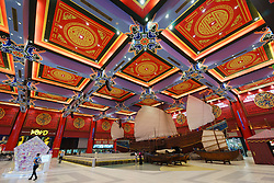 Interior of the China Court at Ibn Battuta shopping mall in Dubai United Arab Emirates