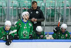 Summanen Raimo, head coach of HK SZ Olimpija during first leg Ice Hockey game between HK SZ Olimpija Ljubljana and Asiago Hockey in Final of Alps Hockey League 2020/21, on April 20, 2021 in Hala Tivoli, Ljubljana, Slovenia. Photo by Vid Ponikvar / Sportida