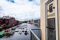 Norway, Sør-Trøndelag, Trondheim. View from Bakke bridge.