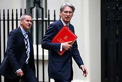 © Licensed to London News Pictures. 10/05/2016. London, UK. Foreign secretary PHILIP HAMMOND arrives at Number 10 Downing Street in Westminster, London for cabinet meeting. Photo credit: Tolga Akmen/LNP