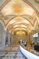 A view of the reception of the Congress Library in Washington DC in the United States. From a series of travel photos in the United States. Photo date: Friday, March 30, 2018. Photo credit should read: Richard Gray/EMPICS