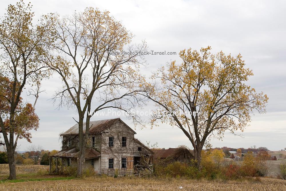 Ste. Genevieve, Missouri MO USA, An abandoned farm house