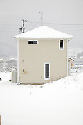 house in the winter with snow rural Japan Nagano district