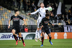 Luka Maric of NS Mura during football match between NS Mura and Rennes (FRA) in group stage of UEFA Europa Conference League 2021/22, on 20 of October, 2021 in Ljudski Vrt, Maribor, Slovenia. Photo by Blaž Weindorfer / Sportida