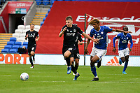Football - 2019 / 2020 Championship - Cardiff City vs Charlton Athletic<br /> <br /> Alfie Doughty of Charlton & Dion Sanderson of Cardiff City, at the Cardiff City Stadium.<br /> <br /> COLORSPORT/WINSTON BYNORTH