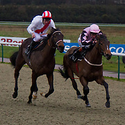 Jazzy Lady and Adam Kirby winning the 2.35 race