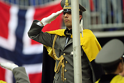 Soldier at medal ceremony at the 3rd day of  European Athletics Indoor Championships Torino 2009 (6th - 8th March), at Oval Lingotto Stadium,  Torino, Italy, on March 8, 2009. (Photo by Vid Ponikvar / Sportida)