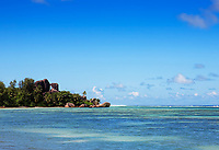 anse source d'argent in la digue in seychelles island