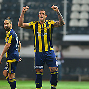 Akhisar Belediye Genclik Spor's and Fenerbahce's during their Turkish Super League soccer match Akhisar Belediye Genclik Spor between Fenerbahce at the 19 Mayis Stadium in Manisa Turkey on Sunday, 06 March 2016. Photo by TURKPIX