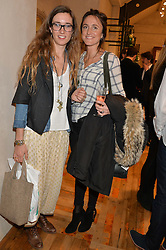 Left to right, SOPHIA ROGGE and HATTIE RICKARDS at a party to celebrate the publication of 'Inspire: The Art of Living With Nature' by Willow Crossley held at Anthropologie, 131-141 Kings Road, London on 13th March 2014.