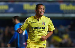 November 30, 2017 - Vila-Real, Castellon, Spain - Carlos Bacca of  Villarreal CF celebrates after scoring a goal during the Copa del Rey, Round of 32, Second Leg match between Villarreal CF and SD Ponferradina at Estadio de la Ceramica on november 30, 2017 in Vila-real, Spain. (Credit Image: © Maria Jose Segovia/NurPhoto via ZUMA Press)