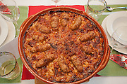 Cassoulet just out of the oven, Brooklyn, New York.