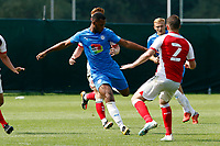 Nyal Bell. Stockport County 0-2 Fleetwood Town. Pre-Season Friendly. 15.8.20