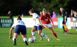 Yana Daniels of Bristol City toys to gold up Chloe Peplow of Tottenham Hotspur Women- Mandatory by-line: Nizaam Jones/JMP - 27/10/2019 - FOOTBALL - Stoke Gifford Stadium - Bristol, England - Bristol City Women v Tottenham Hotspur Women - Barclays FA Women's Super League