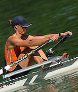 Lucerne, SWITZERLAND, NED LW1X, Marit VAN EUPEN, at the 2007 FISA World Cup, Lucerne, on the Rotsee Lake, 14/07/2007  [Mandatory Credit Peter Spurrier/ Intersport Images] , Rowing Course, Lake Rottsee, Lucerne, SWITZERLAND.