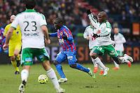 Ngolo KANTE / Joel NGUEMO - 01.02.2015 - Caen / Saint Etienne - 23eme journee de Ligue 1 -<br />Photo : Vincent Michel / Icon Sport
